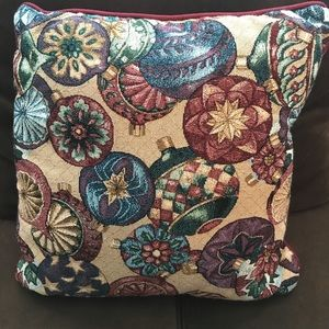 Other - 5/$25Tapestry Christmas ornament decorative pillow